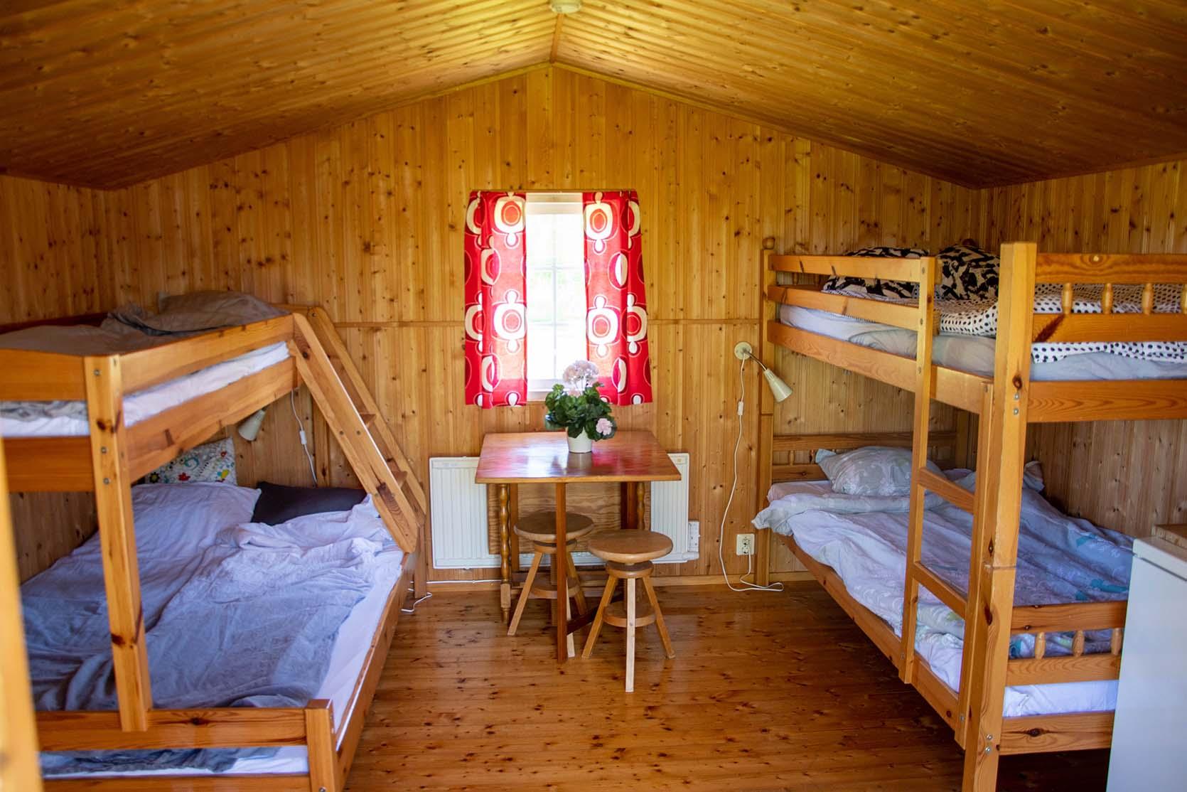 5-bäddsstuga sovplats